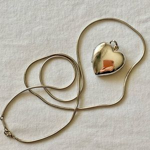 Tiffany & Co. Large Heart Locket and chain